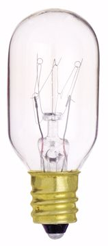 Picture of SATCO S3905 15T7C CLEAR 130V. Incandescent Light Bulb