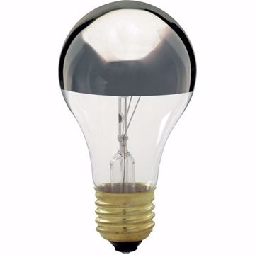 Picture of SATCO S3955 60A19 CHROME TOP 130V Incandescent Light Bulb