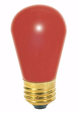 Picture of SATCO S3961 11S14 RED  Incandescent Light Bulb
