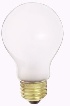 Picture of SATCO S4076 40W A19 E27 230V SOFT WHITE SI Incandescent Light Bulb