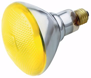 Picture of SATCO S4426 100W BR-38 YELLOW/BUG 120 Volt Incandescent Light Bulb