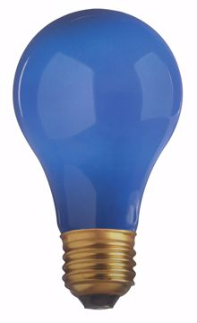 Picture of SATCO S4981 40W A19 CERAMIC BLUE 130V Incandescent Light Bulb
