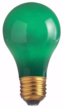 Picture of SATCO S4982 40W A19 Standard GREEN CERAMIC Incandescent Light Bulb