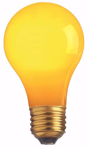 Picture of SATCO S4983 40W A19 Standard YELLOW CERAMIC Incandescent Light Bulb