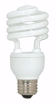 Picture of SATCO S6273 18T2/E26/5000K/120V/3PK Compact Fluorescent Light Bulb