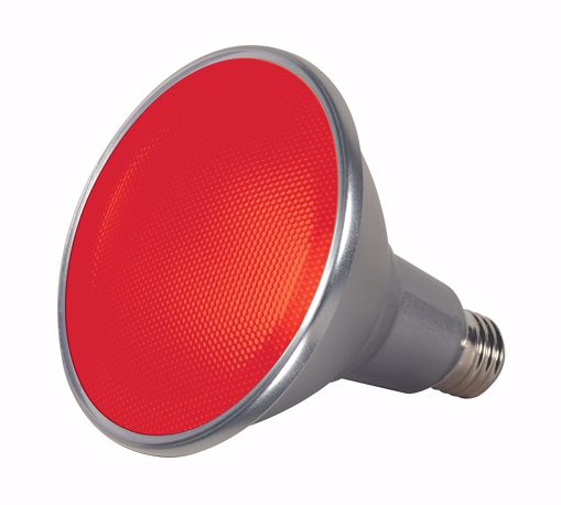 Picture of SATCO S9480 15PAR38/LED/40'/RED/120V LED Light Bulb