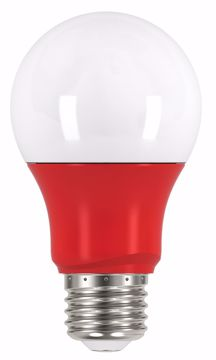 Picture of SATCO S9642 2A19/LED/RED/120V LED Light Bulb