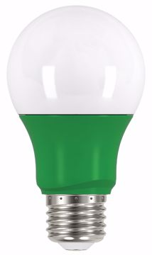 Picture of SATCO S9643 2A19/LED/GREEN/120V LED Light Bulb