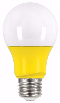 Picture of SATCO S9645 2A19/LED/YELLOW/120V LED Light Bulb