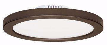 "Picture of SATCO S9885 12W/LED/7""FLUSH/3K/BRZ/SL LED Light Bulb"