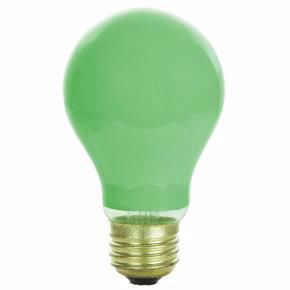 Picture of Sunlite 01155-SU 40 Watts A19 Colored  CERAMIC GREEN Med Base Incandescent Light Bulb